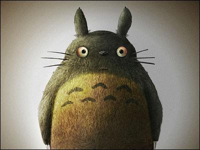 { となりのトトロ } a super realistic totoro by japanese artist yusuke ryuman
