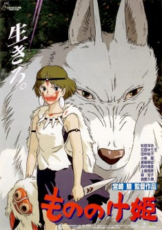 The Japanese poster for Hayao Miyazaki's Princess Mononoke (1997)  From Post No Bills: The ...