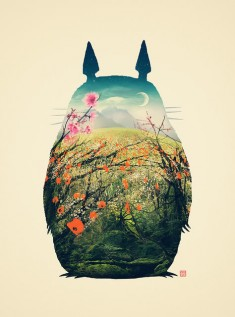 Fan art: Tonari no Totoro Art Print By Victor Vercesi Inspired By: My Neighbor Totoro