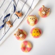 Swimming Rilakkuma Cakes