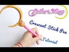 Sailor Moon Crescent Stick Pen Polymer Clay Tutorial (美少女戦士セーラームーン) – YouTube  ...