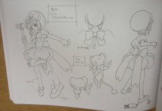 Character design sheet from Cardcaptor Sakura