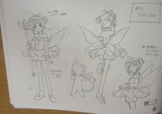 Character design sheet from Cardcaptor Sakura