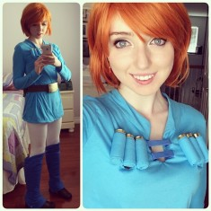 Nausicaä cosplay selfie back at SDCC – scribblebug on Instagram