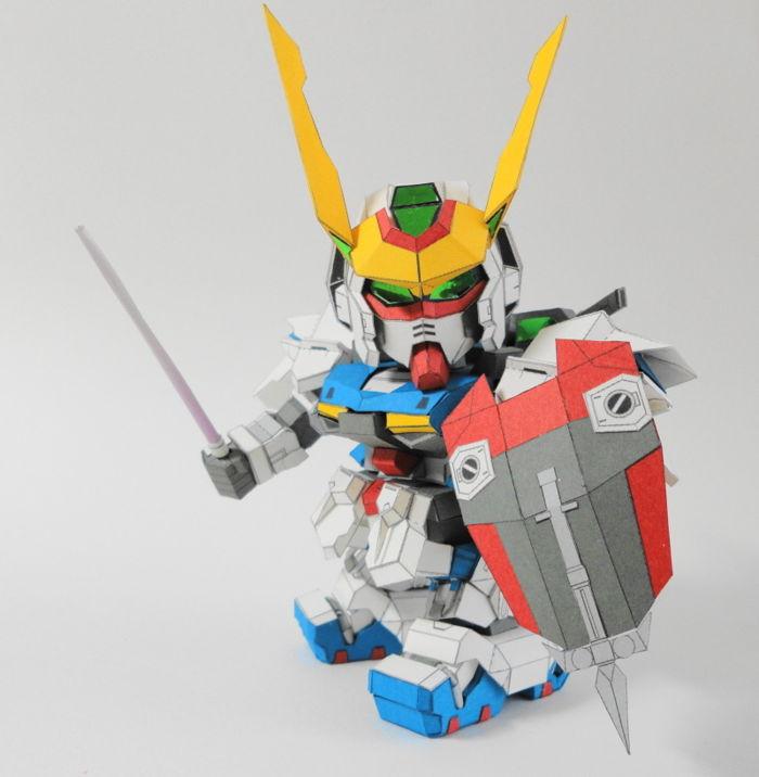 SD ZGMF-X42S Destiny Gundam Ver.2 Free Papercraft Download