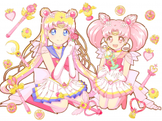 sailor moon fan art via girlsofmoonlight: お誕生日おめでとう♡