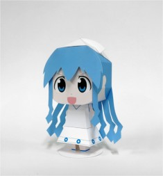 Squid Girl (aka Ika Musume) by Poppaper | Papertoys, Papercraft & Paper Arts