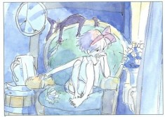 storyboard art for Hayao Miyazaki's 1989 film Kiki's Delivery Service 魔女の宅急便