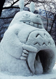 Totoro (トトロ) at the Sapporo Snow Festival 1993