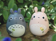 Totoro Dolls pink and gray Studio Ghibli toy  by cuteart