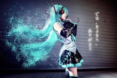 cosplay: Hatsune Miku of VOCALOID
