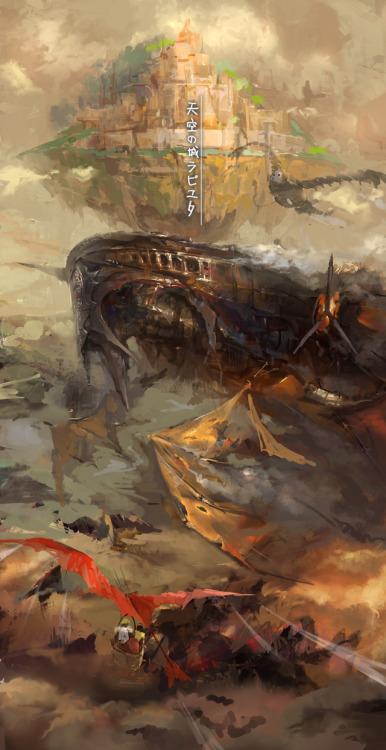 天空の城ラピュタ by lixiaoyaoII