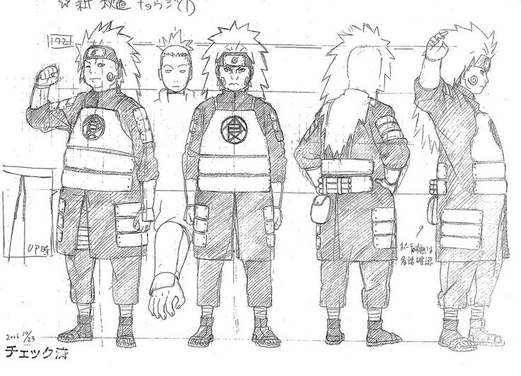 Chōji Akimichi (秋道チョウジ) character design sheet from Naruto