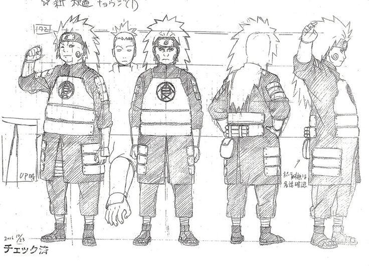 Chōji Akimichi (秋道チョウジ) character design sheet from Naruto