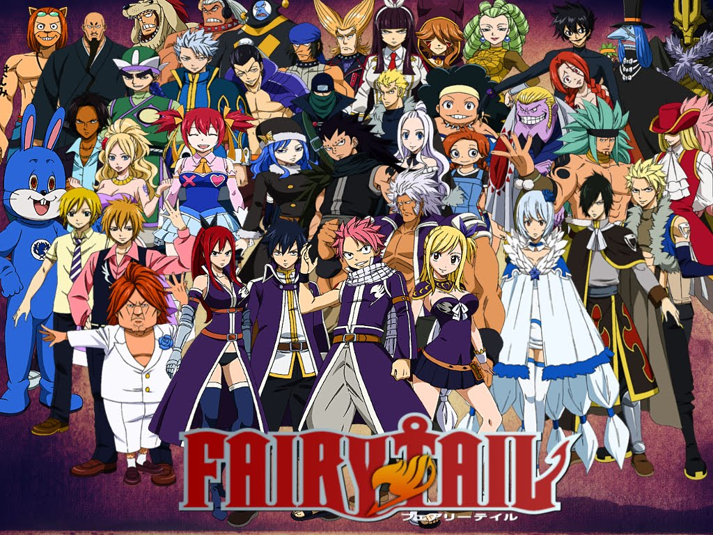 Fairy Tail Characters From The Anime Series