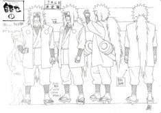 Jiraiya (自来也) character design sheet from naruto