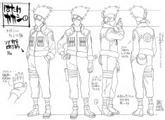 Kakashi Hatake (はたけカカシ) character design sheet from Naruto
