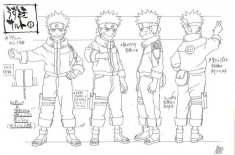 Naruto Uzumaki (うずまきナルト) character design sheet