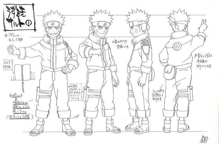 Naruto Character Design Sheet : Naruto uzumaki  character design sheet pin