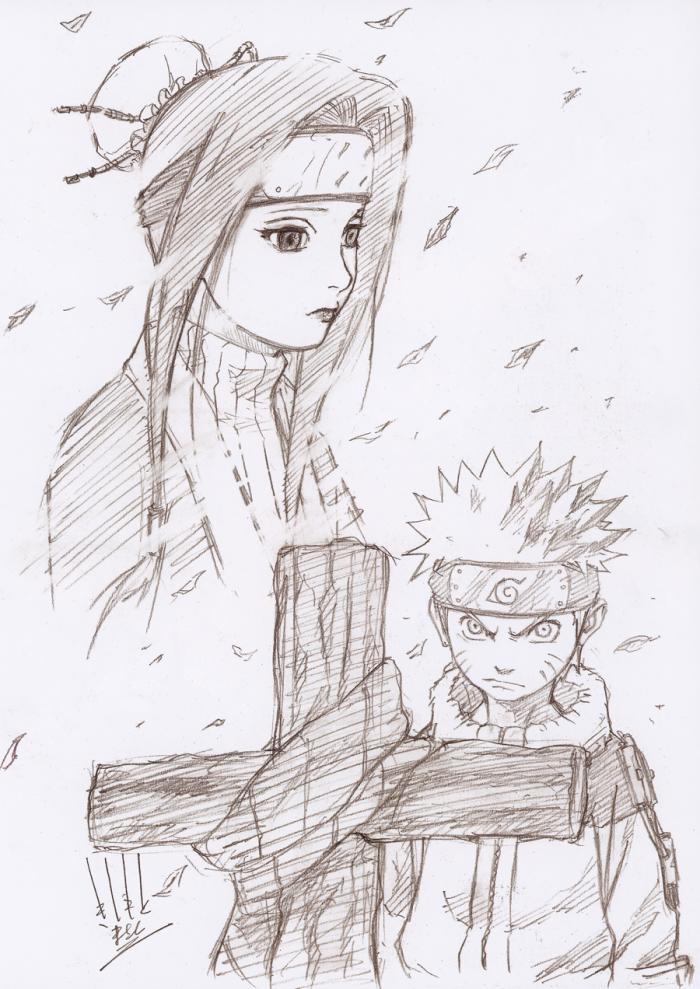 Naruto pencil sketch illustration