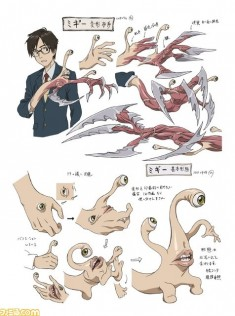 Parasyte 寄生獣 character design sheet