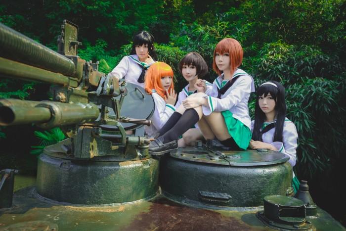Girls und Panzer cosplay from China