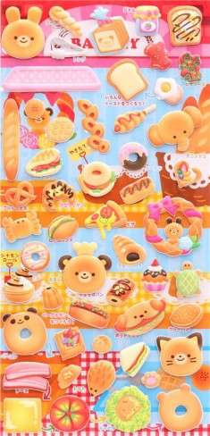 animal pastry sponge stickers by Q-Lia