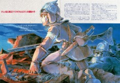 Nausicaä of the Valley of the Wind – Illustration from the official movie pamphlet (1984).