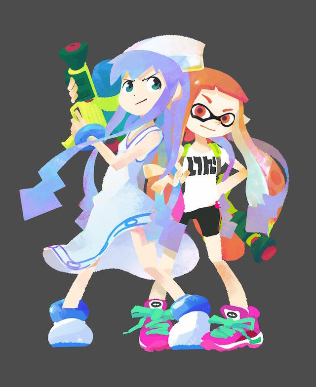 Illustration from a collaboration between Nintendo for their new game Splatoon and Masahiro Anbe ...