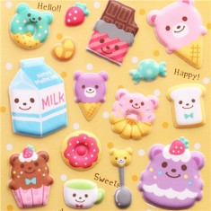 Sweets Sponge Stickers by Mind Wave