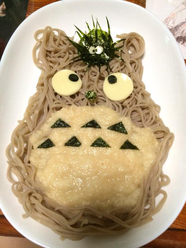 My Neighbor Totoro as a yummy noodle dish