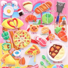 cooking food sponge stickers by Q-Lia