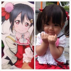 Cute cosplaying toddler nails manga impersonation, wins hearts across the country
