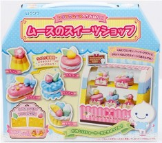 DIY set to make cupcakes, eclair, macaroons and other sweets with mousse clay by Kutsuwa