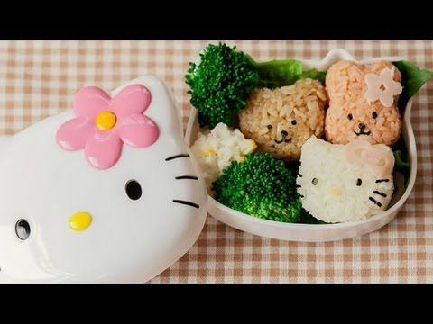 How To Make Hello Kitty Onigiri and Potato Salad! – YouTube Video