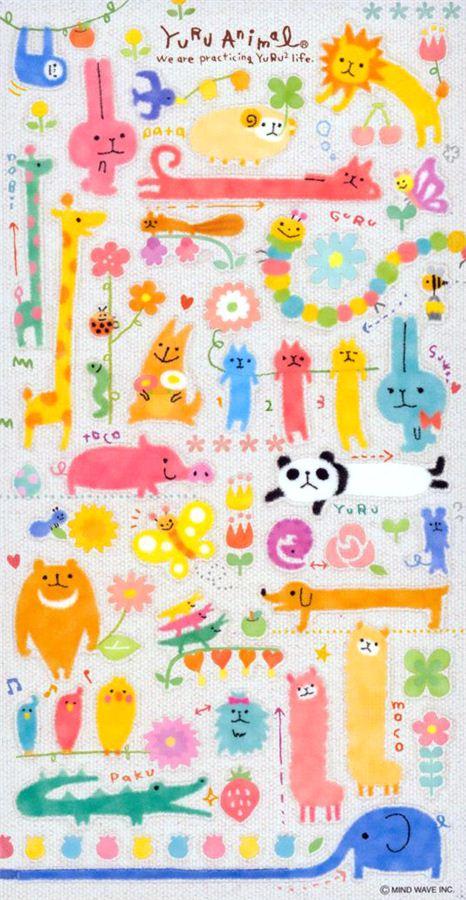 Yuru Animal stickers by Mind Wave