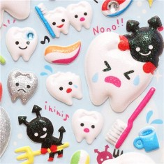 Tooth Puffy Stickers from Mind Wave