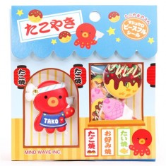 Mind Wave Takoyaki octopus sponge stickers