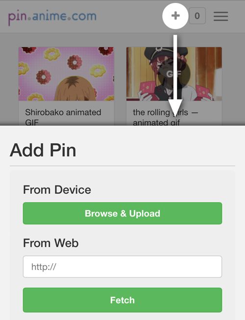 Mobile: How to add a pin