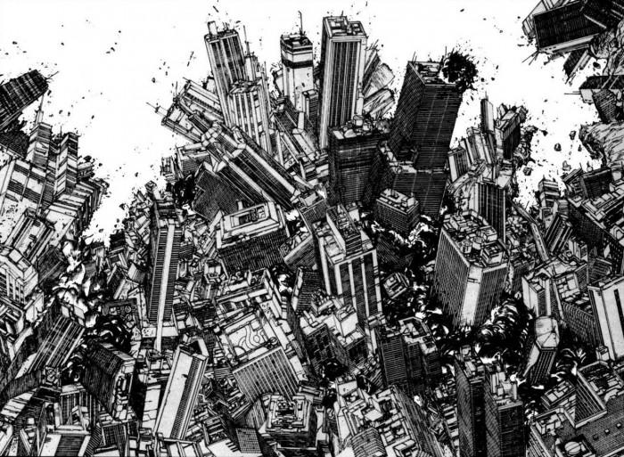 A panel from the Akira manga