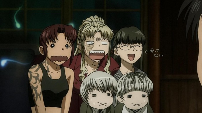 A silly screencap of Black Lagoon ブラック・ラグーン