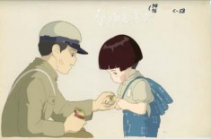 Cel painting from Grave of the Fireflies 火垂るの墓 1988 directed by Isao Takahata
