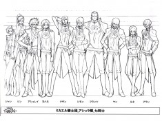 Code Geass character design sheet