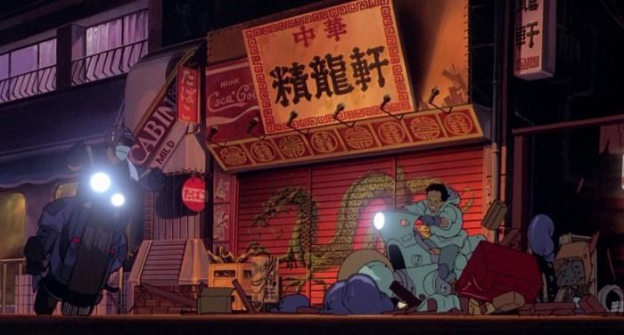 Neo-Tokyo scene from the film Akira