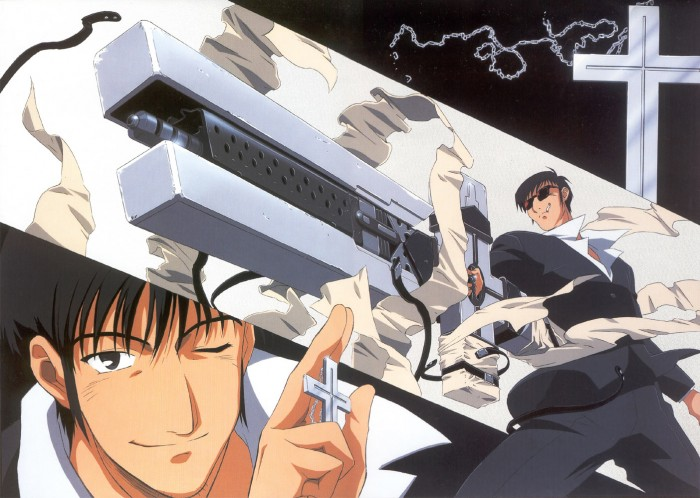 Nicholas D. Wolfwood and his  Cross from Trigun トライガン