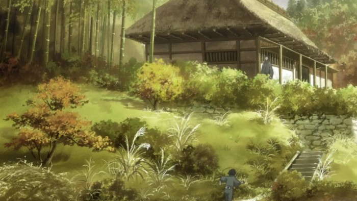 The background artwork from Mushi-Shi is amazing 蟲師
