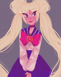 fan art: usagi for international sailor moon day