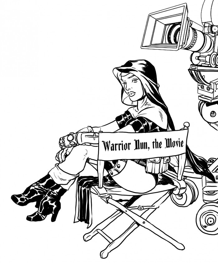 Hurray for Hollywood !   The Warrior Nuns are attacking Kickstarter tomorrow