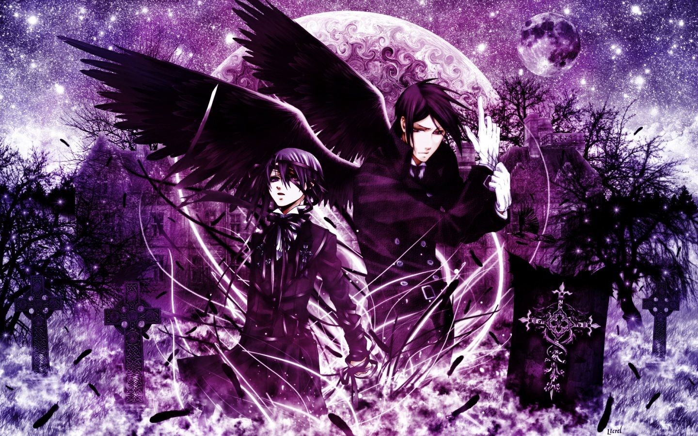ciel and pix for gt black butler wallpaper sebastian black