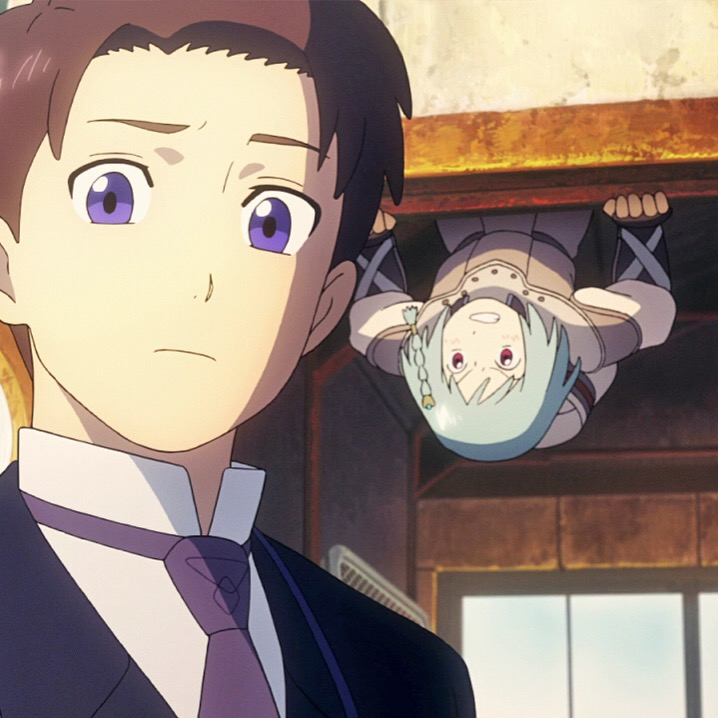 """Picture of Age and Patema from the anime movie """"Patema Inverted""""!"""